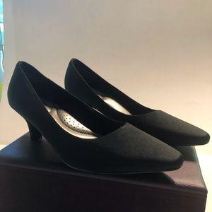 Abella Black Fabric heels